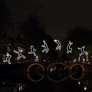 Run Beyond. Amsterdam Light Festival.