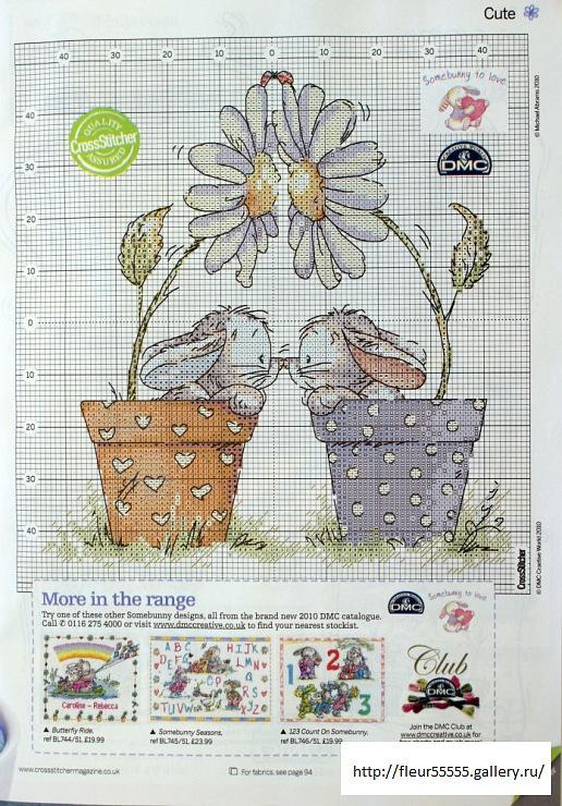 Cross-stitch Pot Luck Bunnies, part 3.. color chart on part 2... Gallery.ru / Фото #45 - 3 - Fleur55555