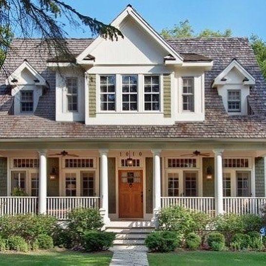Exterior Cape Code Inspiration #capecodfarmhouse #farmhouse #bhg #farmhousestyle #capecod #capecodhome #capecodfloorplan