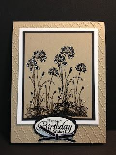 Serene Silhouettes Birthday Card Stampin' Up! Rubber Stamping Handmade Cards