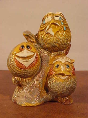 Vintage 1969 Owl s on a Tree Bank Weird Chalkware Item | eBay