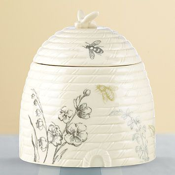 Vintage Botanical Beehive Covered Candy Dish by #Lenox