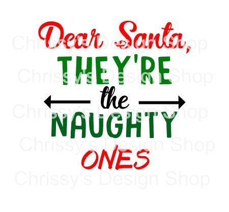 Dear Santa svg cut file / naughty nice list svg / santa list