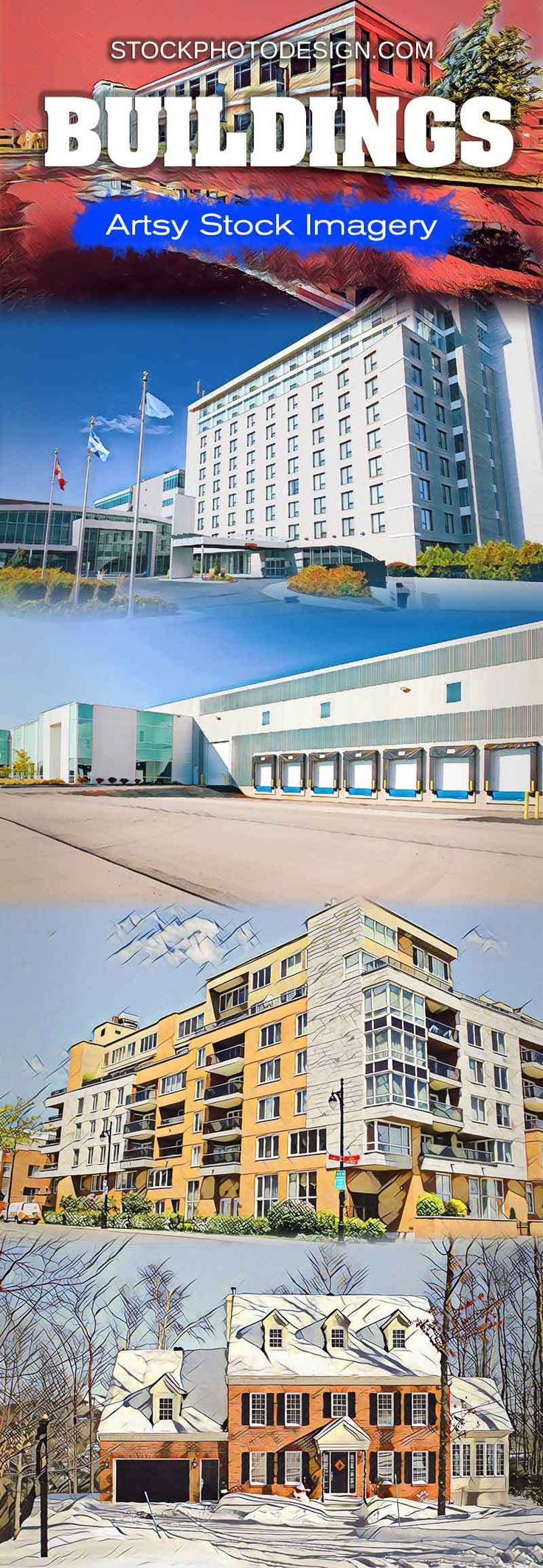 Artsy Buildings Stock Imagery at Great Prices - Stockphotodesign.com