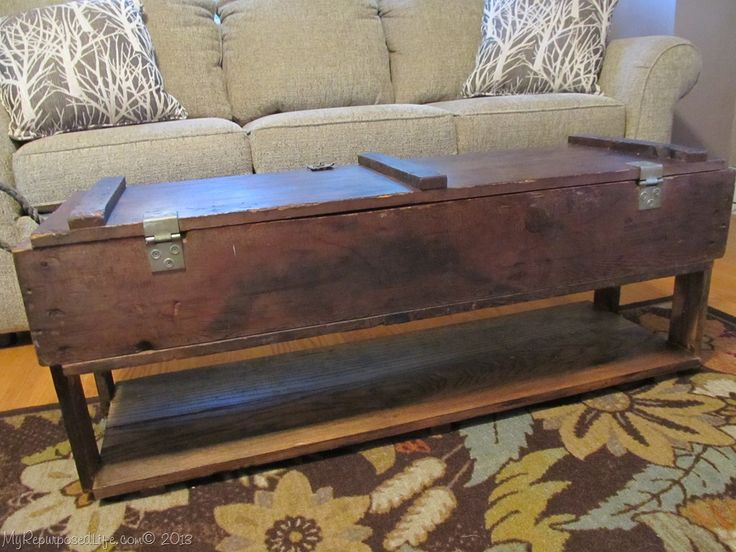 Vintage Ammo Box into a Coffee Table