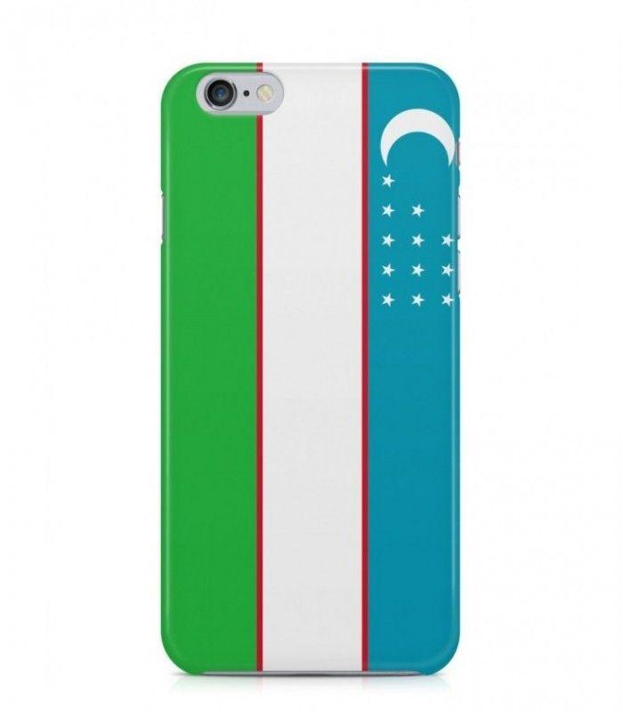 Uzbekistani or Uzbek Flag 3D Iphone Case for Iphone 3G/4/4g/4s/5/5s/6/6s/6s Plus - FLAG-UZ - FavCases
