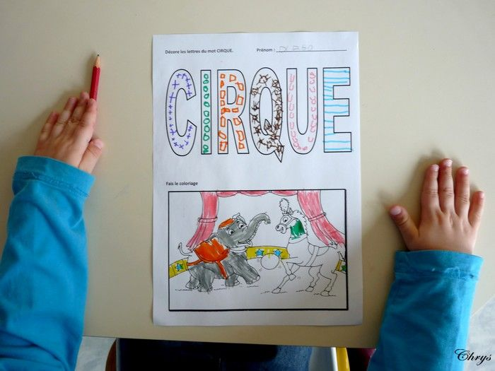 Le Journal de Chrys: Mon projet CIRQUE en maternelle (1)