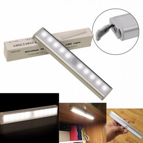 Wireless Pir Motion Sensor 10 Led Warm Light Cabinet Wardrobe Night Lamp In 2020 Night Lamps Motion Sensor Lights Warm Light