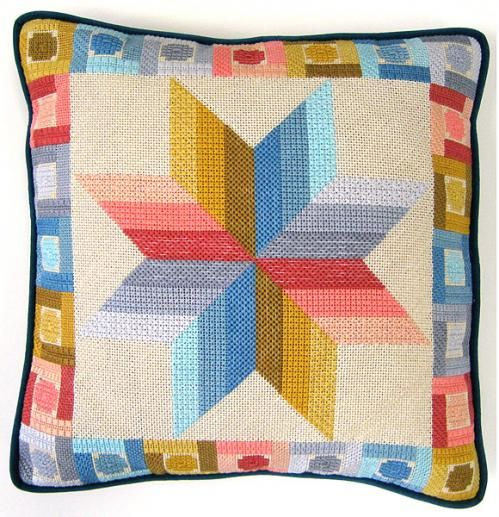 Quilted Star Counted Needlepoint Kit | sewandso