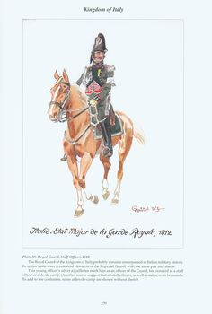 Kingdom of Italy: Plate 38: Royal Guard, Staff Officer, 1812