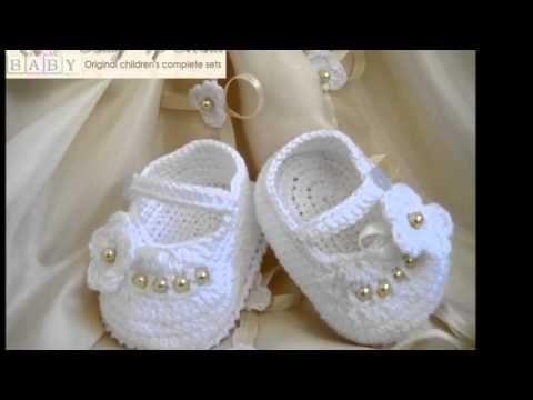 Zapatitos tejidos a crochet para bebes de 10 meses - YouTube