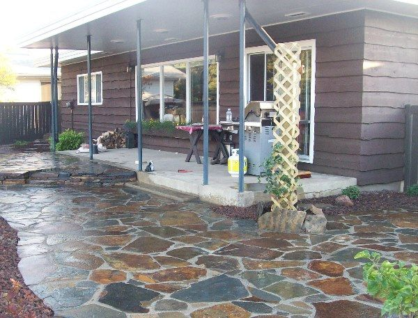 Stone Patio Ideas Backyard backyard stone patio designs custom stone patio design built long island ny brick patios best concept How To Build A Dry Laid Flagstone Patio