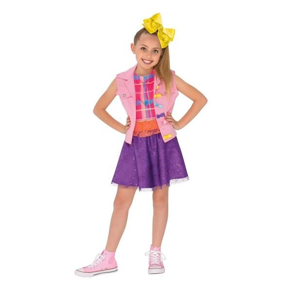 JoJo Siwa Music Video Outfit for Girls Whether you like to dance, like the show Dance Moms, or just like her YouTube videos, get JoJo's look with this JoJo Siwa Music Video Outfit for Girls. Includes vest with attached top, skirt, and hair bow. Weight (lbs) 1 Length (inches) 0 Width (inches) 0 Height(inches) 0 Kid's Costumes Multi-colored Small Everyday Female Child