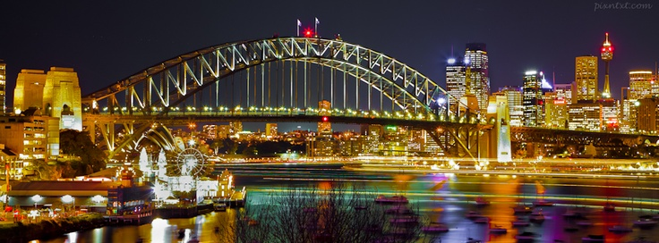 Sydney Harbour by night  - If you use this image, please post a link to your Facebook page in the comments and/or Like my page at www.facebook.com/pixntxt - You can check out my reasons for releasing these covers under Creative Commons at my blog: http://blog.pixntxt.com/2012/10/01/what-would-trey-ratcliff-do-post-free-facebook-timeline-images-thats-what/
