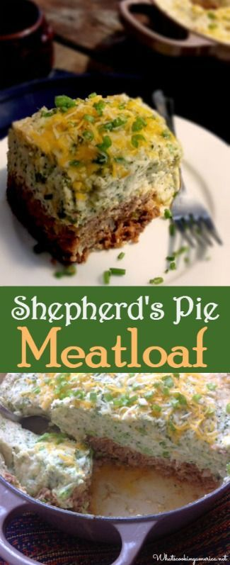 Shepherd's Pie Meatloaf Recipe  |  whatscookingamerica.net  |