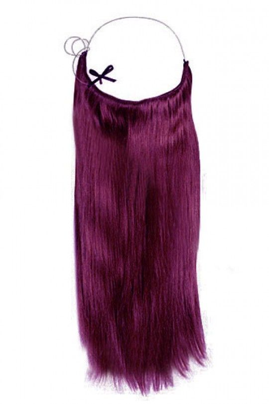 Wholesale 16'-22' Purple Straight 100% Remy Hair Flip In Human Hair Extensions
