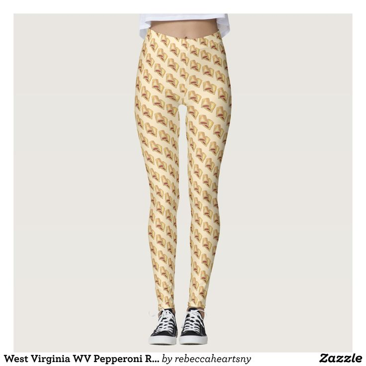 West Virginia WV Pepperoni Roll Snack Junk Food Leggings : Beautiful #Yoga Pants - #Exercise Leggings and #Running Tights - Health and Training Inspiration - Clothing for #Fitspiration and #Fitspo - #Fitness and #Gym #Inspo - #Motivational #Workout Clothes - Style AND #comfort can both be possible in one perfect pair of custom #leggings. #West Virginia WV Pepperoni Roll Snack Junk Food Leggings was crafted made with care each pair of leggings is printed before being sewn allowing for #fun…