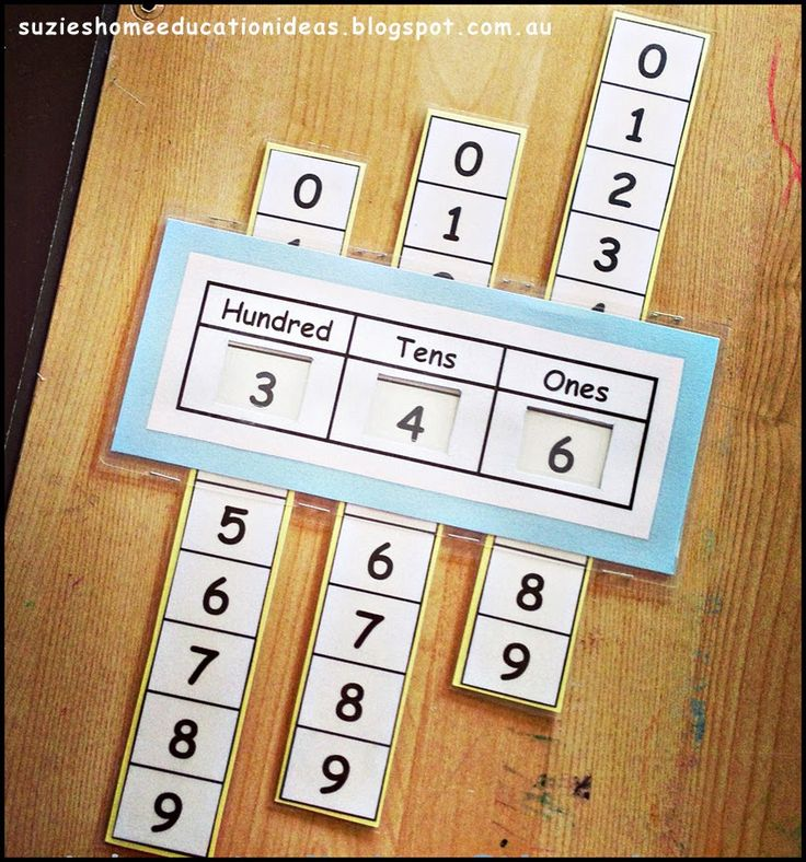 Suzie's Home Education Ideas: Printable Place Value Slider