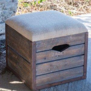 25 best ideas about Crate Ottoman on PinterestDIY storage