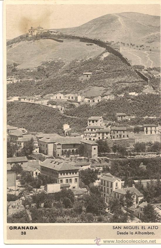 San Miguel el alto, desde la Alhambra 1.940 Granada