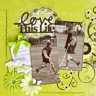 A2Z Scraplets - Our July challenge winner. I would never have thought this combination of colors would work so perfectly. Brilliant page. www.a2zscraplets.com.au