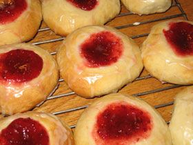 Kolache - Czech, Bohemia, Moravia, Silesia, Slovakia.  Sweet bread with many different types of filling.  Link to the dough recipe.