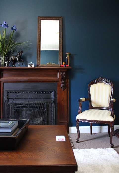 Dark Navy Walls Cream Amp Brown Living Room