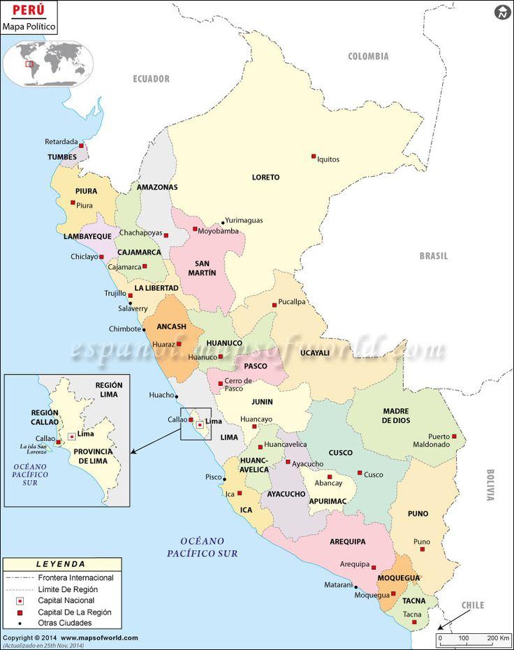 Mapa Politico del Peru