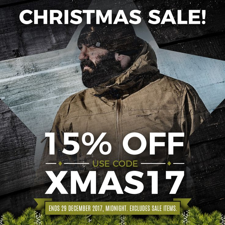 Military 1st Christmas Sale starts today! 15% off across all categories with #Discount Code XMAS17. Visit our website now - offer ends 29 December 2017, midnight. Excludes sale items. Enjoy free UK delivery and returns! Free shipping to the U.S., Ireland, and Australia. Fantastic rates for delivery across Europe.