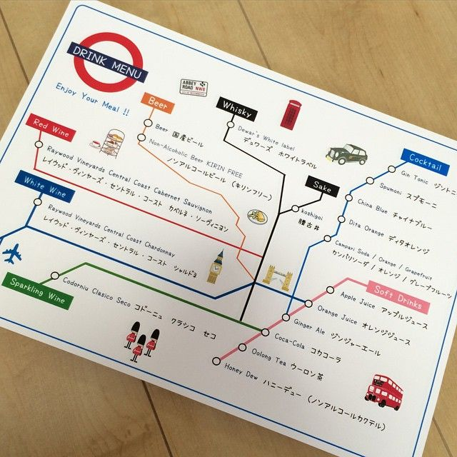 ドリンクメニューロンドン地下鉄路線図をアレンジ #プレ花嫁 #ドリンクメニュー #花嫁DIY #結婚式準備 #ロンドン地下鉄 #tubemap #地下鉄 #UK #London#旅がテーマ#テーマは旅#テーマは旅行#旅行がテーマ