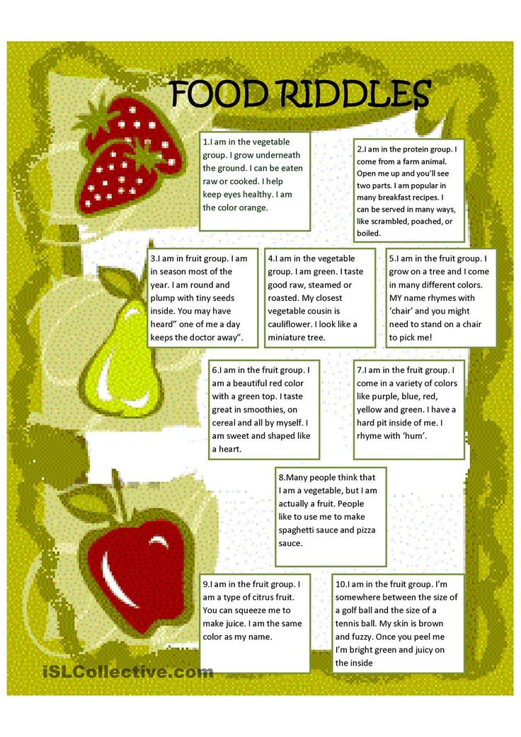 Food riddles poems riddles and rhymes pinterest for Cuisine words