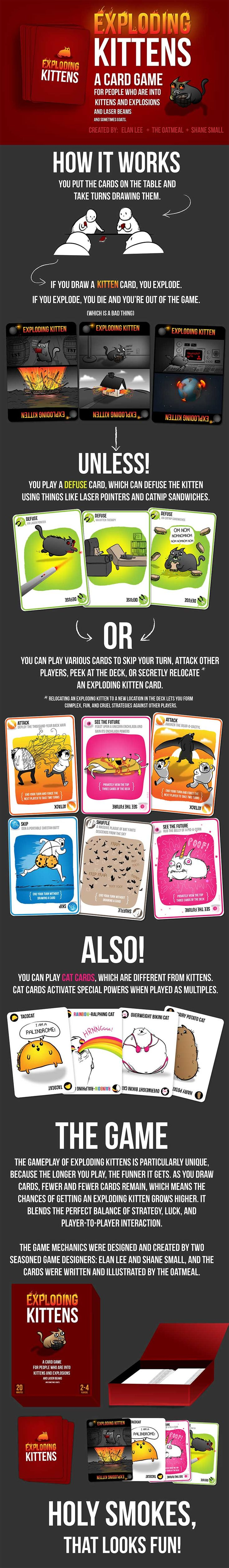 Exploding Kittens Card Game.  ~*~ OMG, I NEED DIS! ~*~
