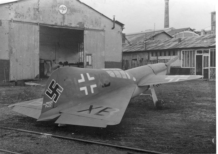 Payen Pa22, one of Hitler's secret weapons that arrived not in time to provide a turnaround in the fortunes of war