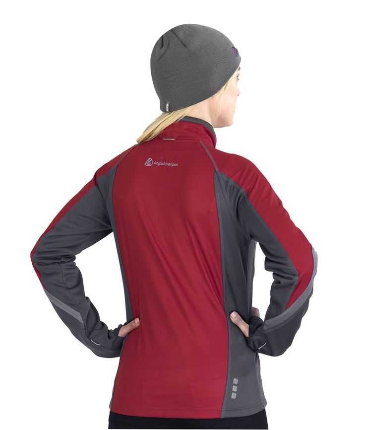 Elevate Soft Shell Jackets for Women, Red and Charcoal. Elevate Clothing South Africa