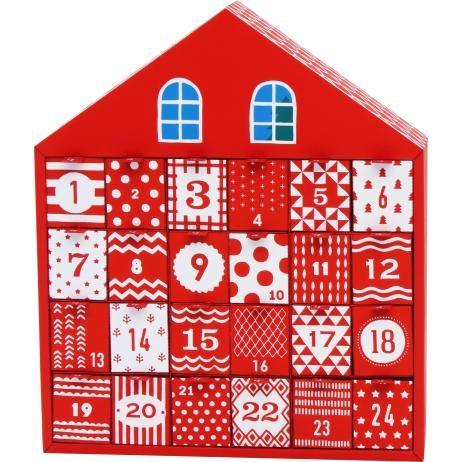 アドベントカレンダー(クリスマスハウス),アドベントカレンダー,カレンダー,クリスマス,赤,家,カレンダー,クリスマスカラー,サンタクロース