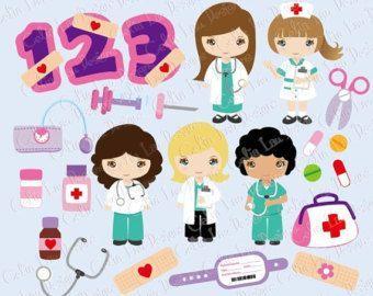 Chicos lindo de la enfermera y el Doctor por CeliaLauDesigns