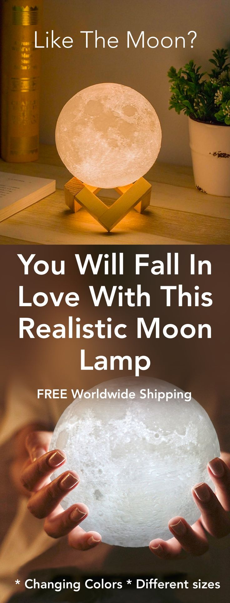 Convey The Moon Into Your House – Lifelike Magical Moon Lamps…