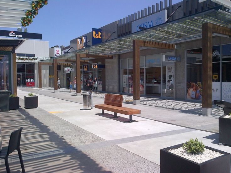 Silverdale shopping centre, Auckland used Accoya® as decorative facades. #accoya #wood