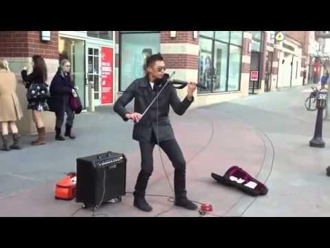 O Melhor Violinista de Rua do Mundo (Violino Elétrico)