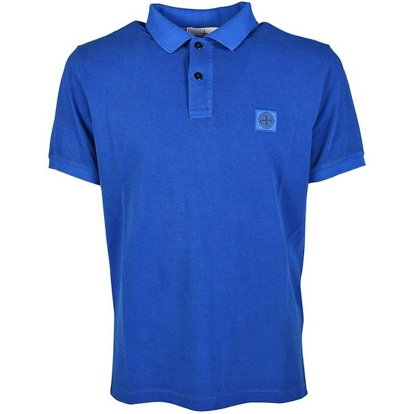 Logo Patch Polo Shirt (380 BRL) ❤ liked on Polyvore featuring men's fashion, men's clothing, men's shirts, men's polos and stone island