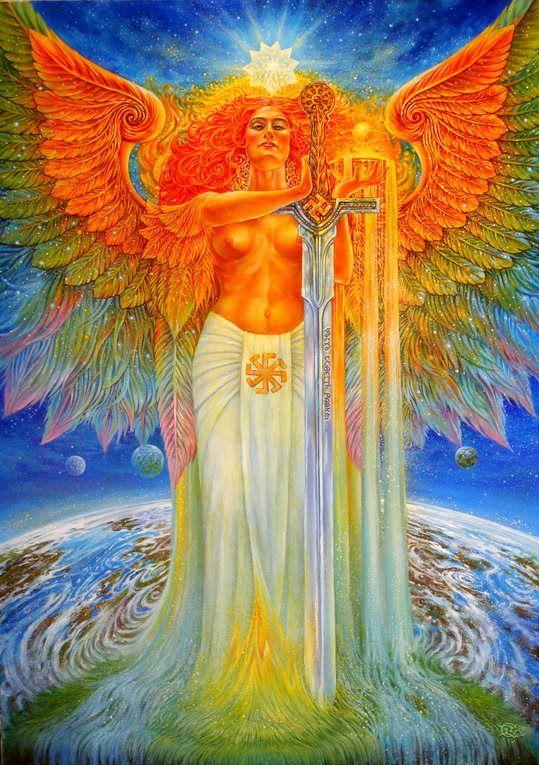 МАТЕРЬ СВА - Mater Sva -  Slavic All-Mother - Mother Glory - Solar Warrior Goddess .