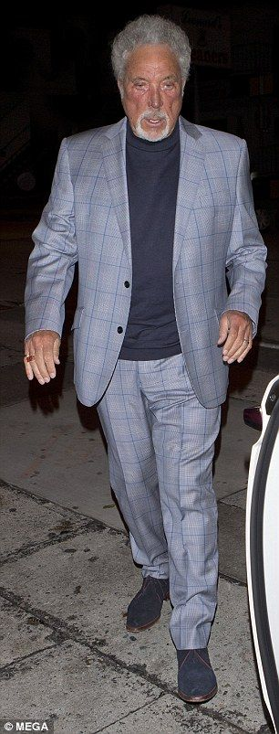Famous pals: Priscilla Presley and Tom Jones stepped out together in Hollywood Thursday ni...
