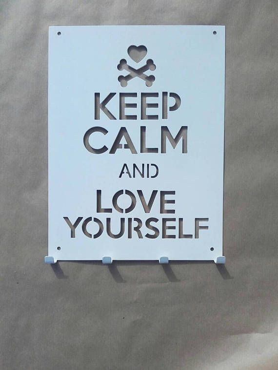 Check out this item in my Etsy shop https://www.etsy.com/listing/508383930/metal-decor-sign-with-hooks-keep-calm