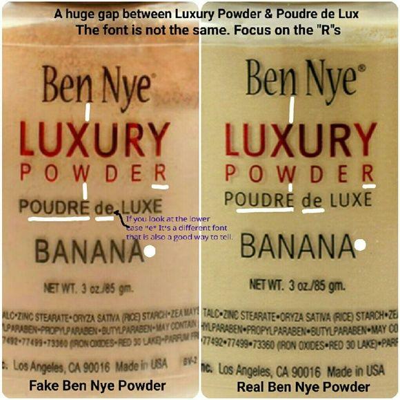 Ben Nye Makeup - *FAKE* Ben Nye Banana Powder HOW TO SPOT ONE!
