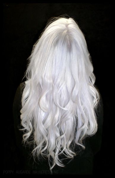 Hair of my dreams !  White Silver Hair - Poppy Augarde Hairdressing..gorgeous!
