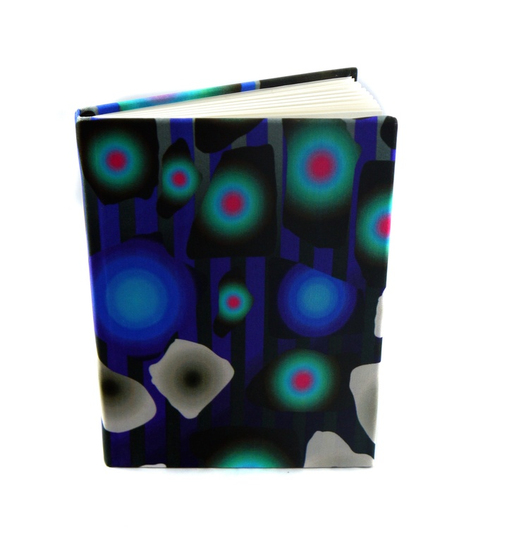 Modern Love Large Luxury A5 Notebook- Large Print Teal Peacock