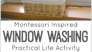 Montessori Inspired Window Washing Activity