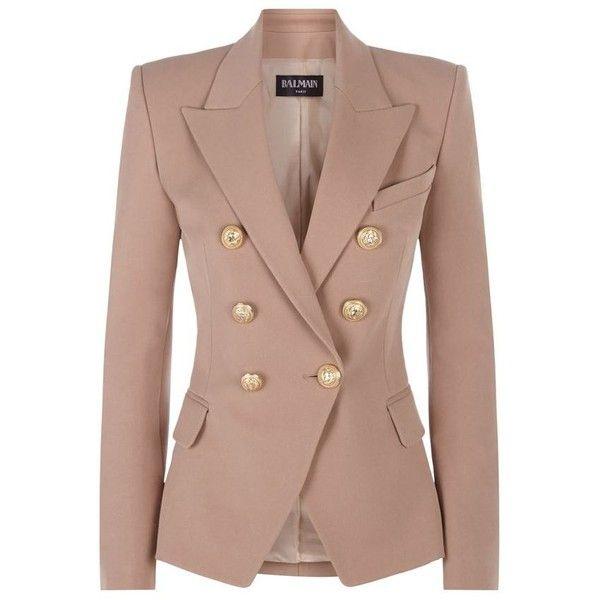 Balmain Double-Breasted Twill Jacket