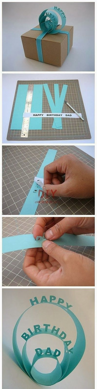 My DIY Projects: Birthday gift package decorations
