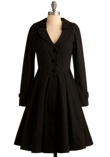 Wuthering Delights Coat an excellent reason to lose weight $179.99 #modcloth: Black Coats, Cute Coats, Black Dresses Coats, Winter Coats, Fashion Style Dreams, Beautiful Coats, Delight Coats, Classic Dresses Coats, Winter Dresses